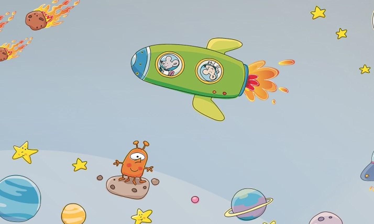 Favorito Stickers Murali Bambini - Cameretta Viaggio nello Spazio | LeoStickers QA44